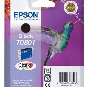 Epson Cartridge T0801 Zwart-0