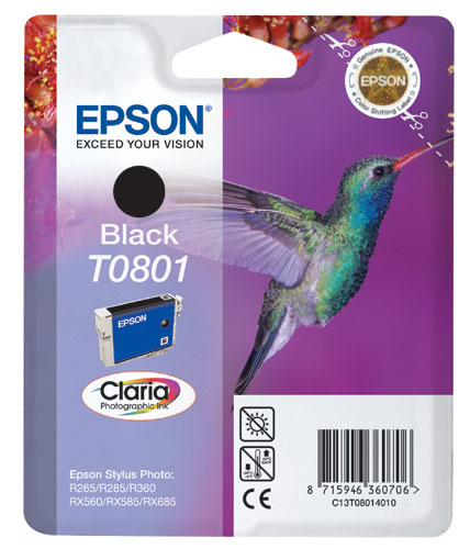 Epson Cartridge T0801 Zwart-0