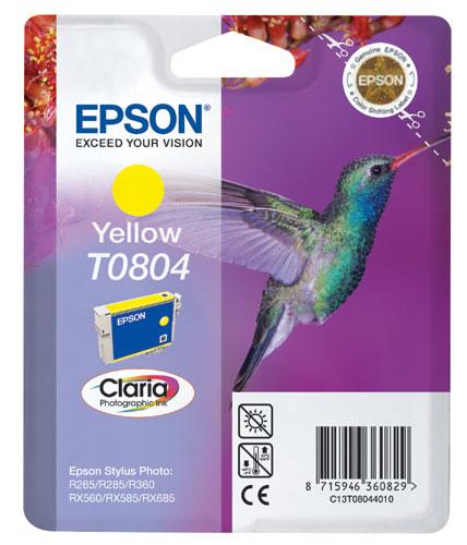Epson Cartridge T0804 Yellow-0