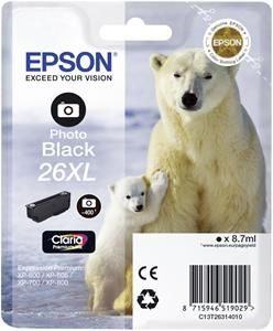 Epson Cartridge T2631XL Foto Zwart-0
