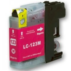 Brother Compatible LC123 Magenta-0