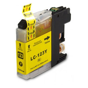 Brother Compatible LC123 Yellow-0