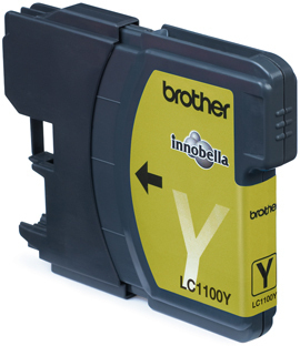 Brother LC1100 Yellow Gevuld-0