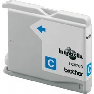 Brother LC970 Cyaan Gevuld-0