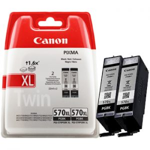 Canon PGBK-570XL Zwart Twin-pack-0